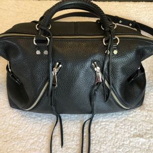 Rebecca Minkoff black leather satchel EUC